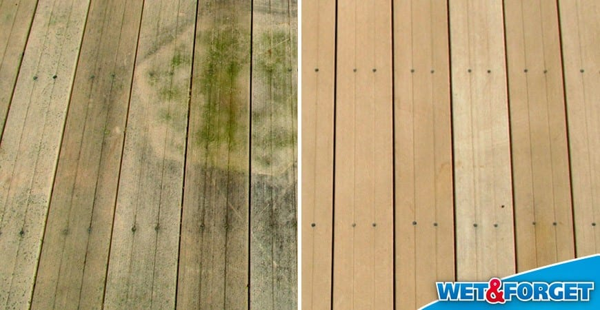 Wet And Forget On Composite Decking