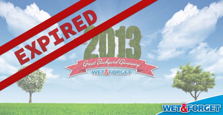 wet & forgets great backyard giveaway