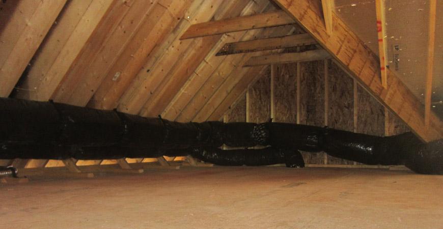 ducting in attic