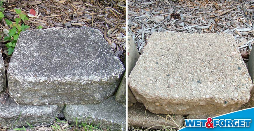before and after brick cleaner