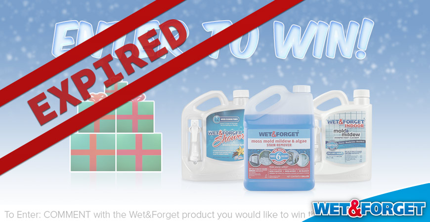 wet & forget christmas giveaway