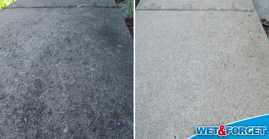 Wet & Forget cleans sidewalks