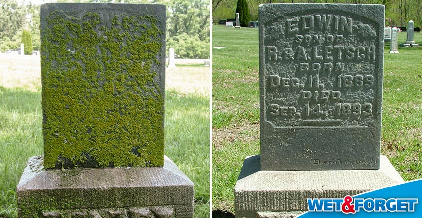 best product to clean headstone