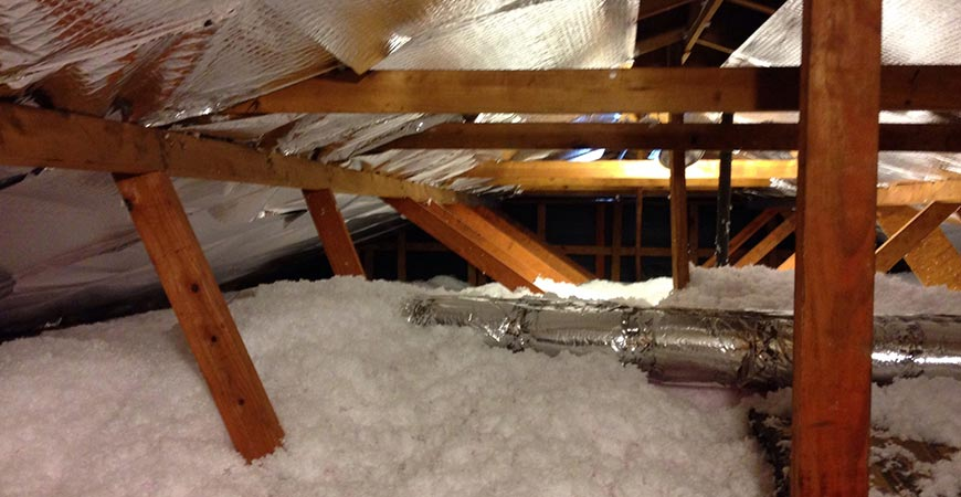 attic insulation to keep warm