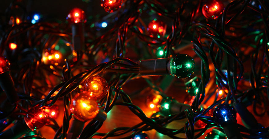 christmas lights in bundle