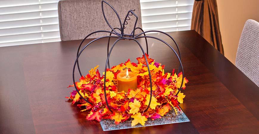 easy, Thanksgiving centerpiece decor