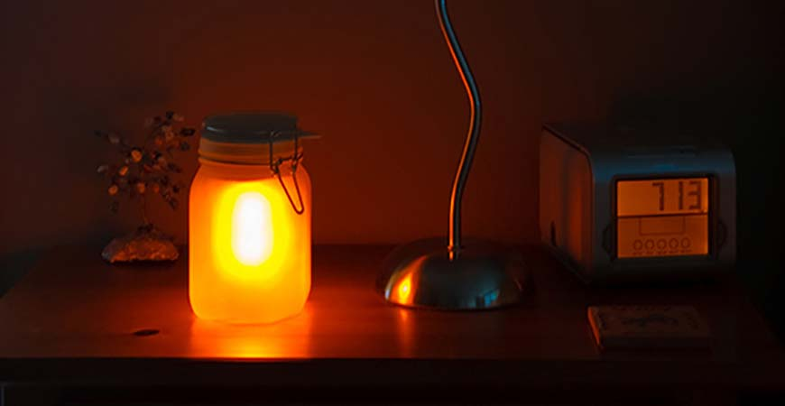 solar powered nightstand