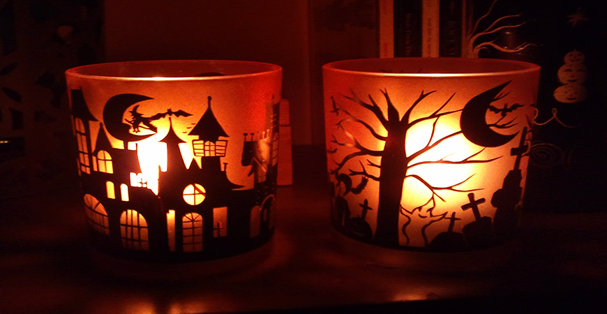 sillhouette candles for halloween