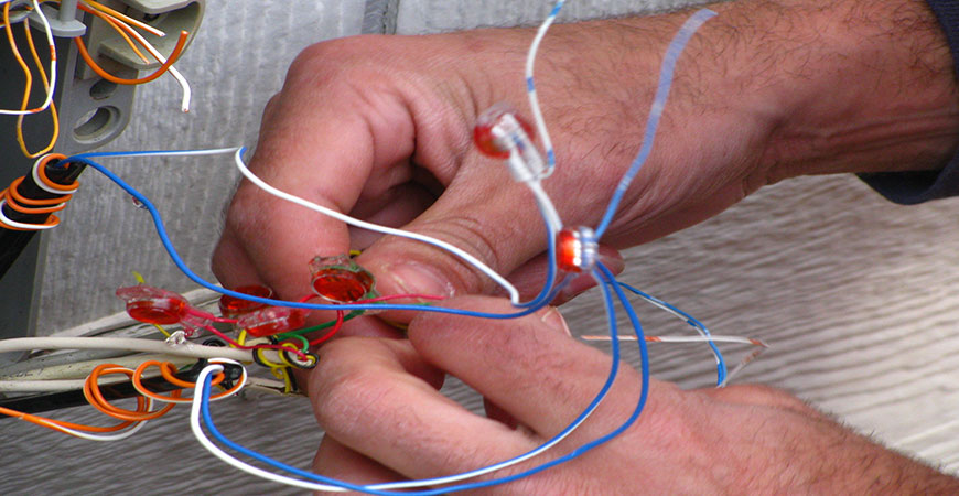 wiring should be left for professional home repairers