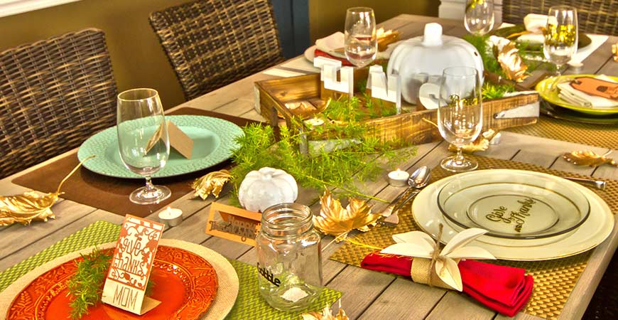 6 different DIY Thanksgiving place settings