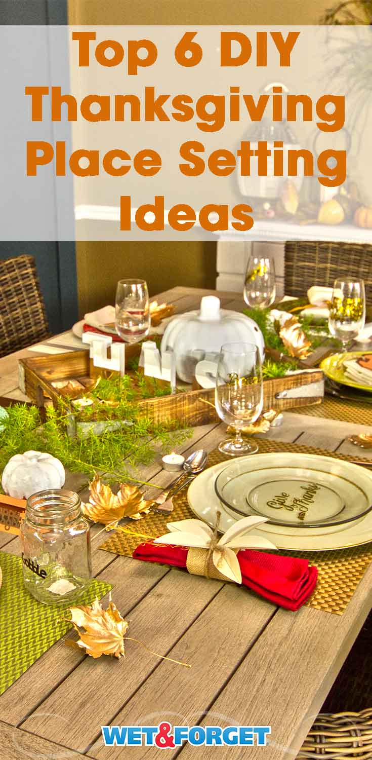 Spruce up your Thanksgiving table with these DIY place setting ideas!