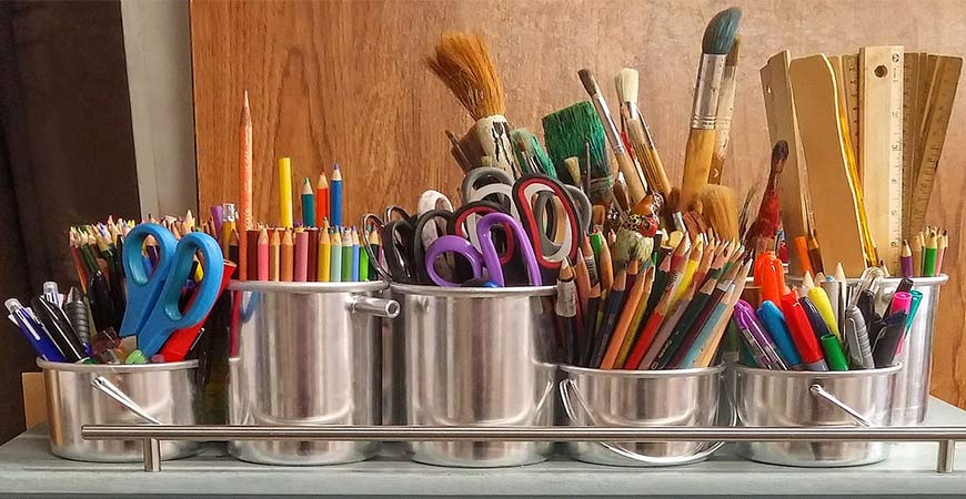 Different supplies for beginner DIY projects