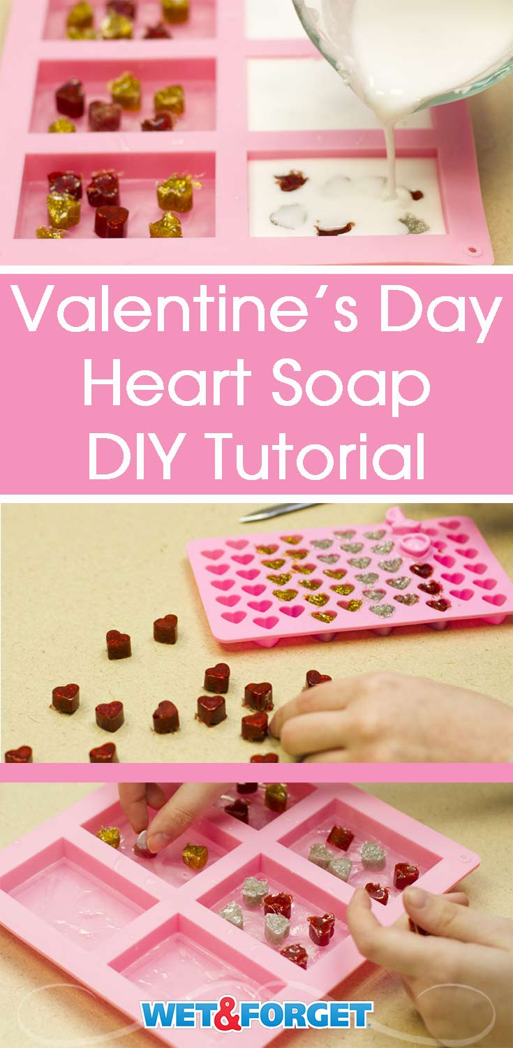 Valentine's Day is quickly approaching! Get crafty with this easy DIY heart soap tutorial.