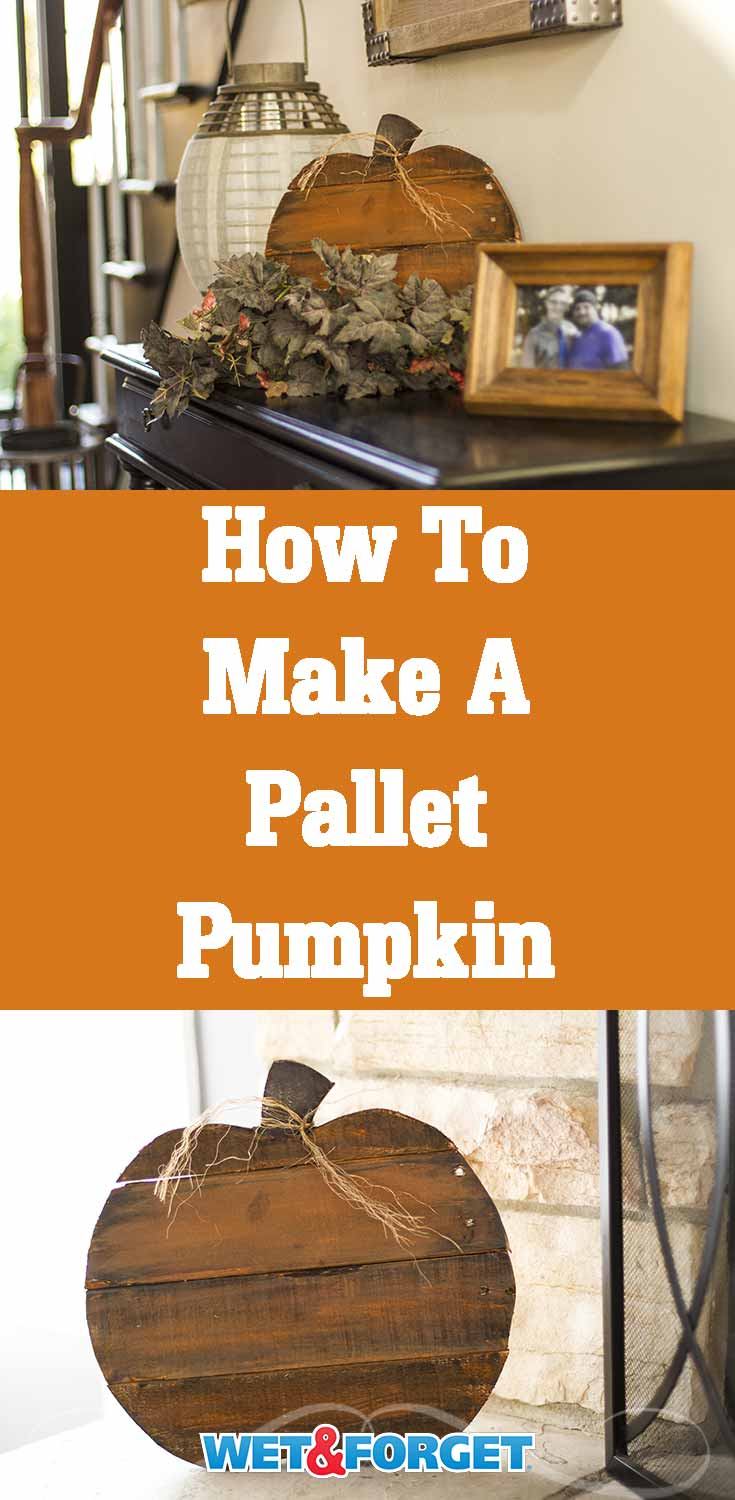 Give your home a more rustic feel by making this pallet pumpkin!