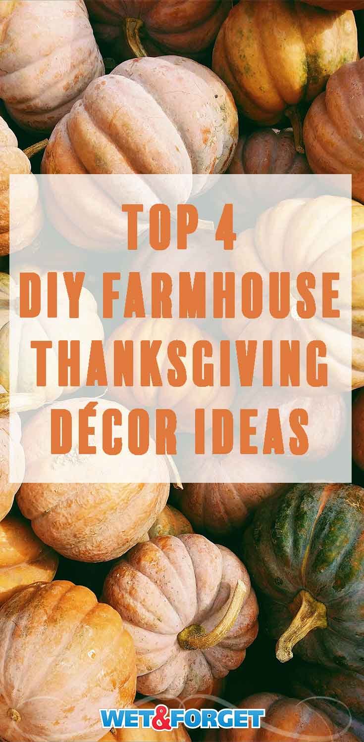 Need new décor ideas for Thanksgiving? Check out these clever fall DIY farmhouse themed décor ideas!