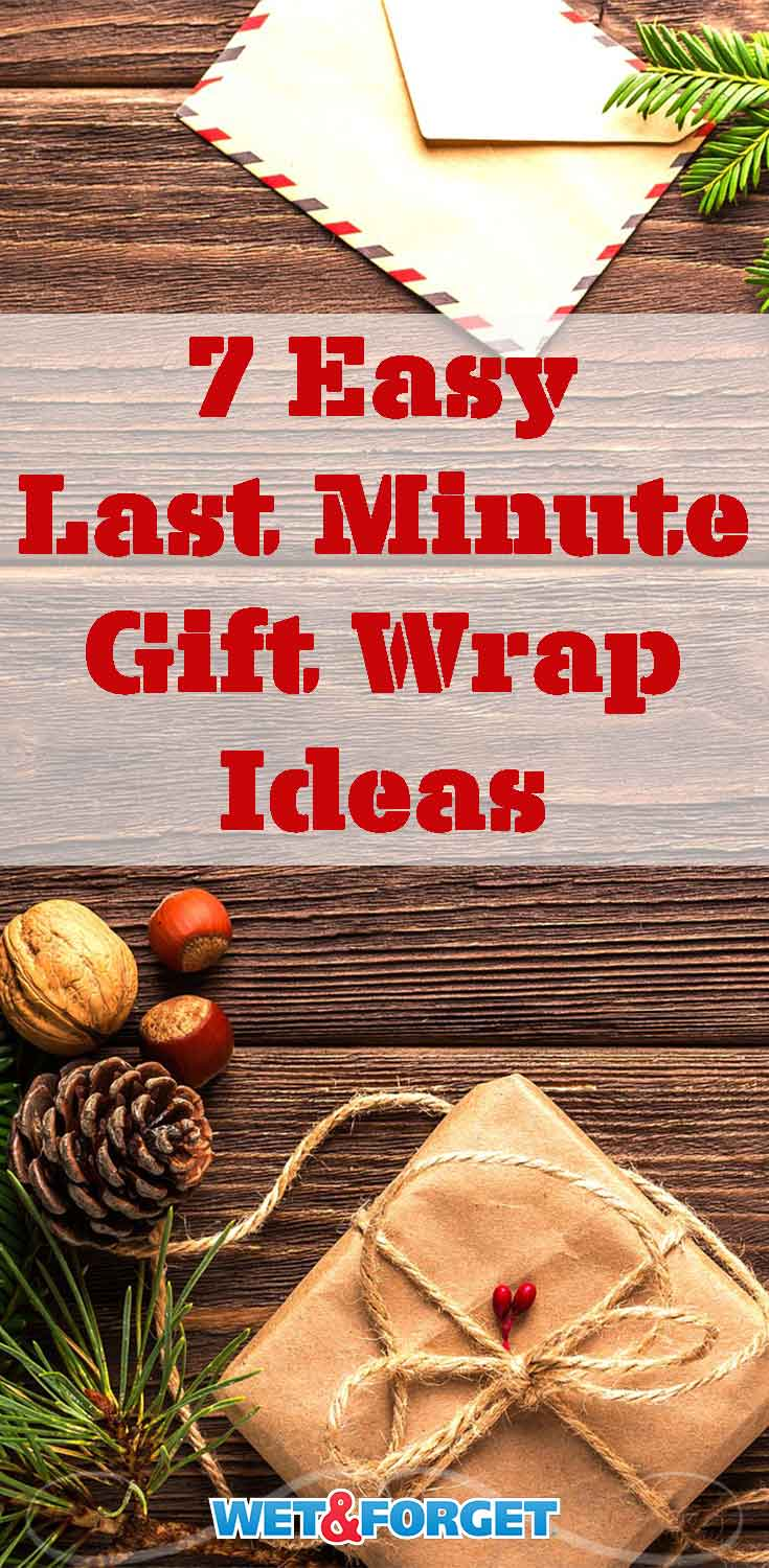 Stuck gift wrapping last minute? Use one of these clever ideas to help make your gift wrapping easier!
