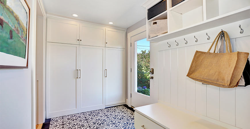 Organize your mudroom or entryway with these quick tips!
