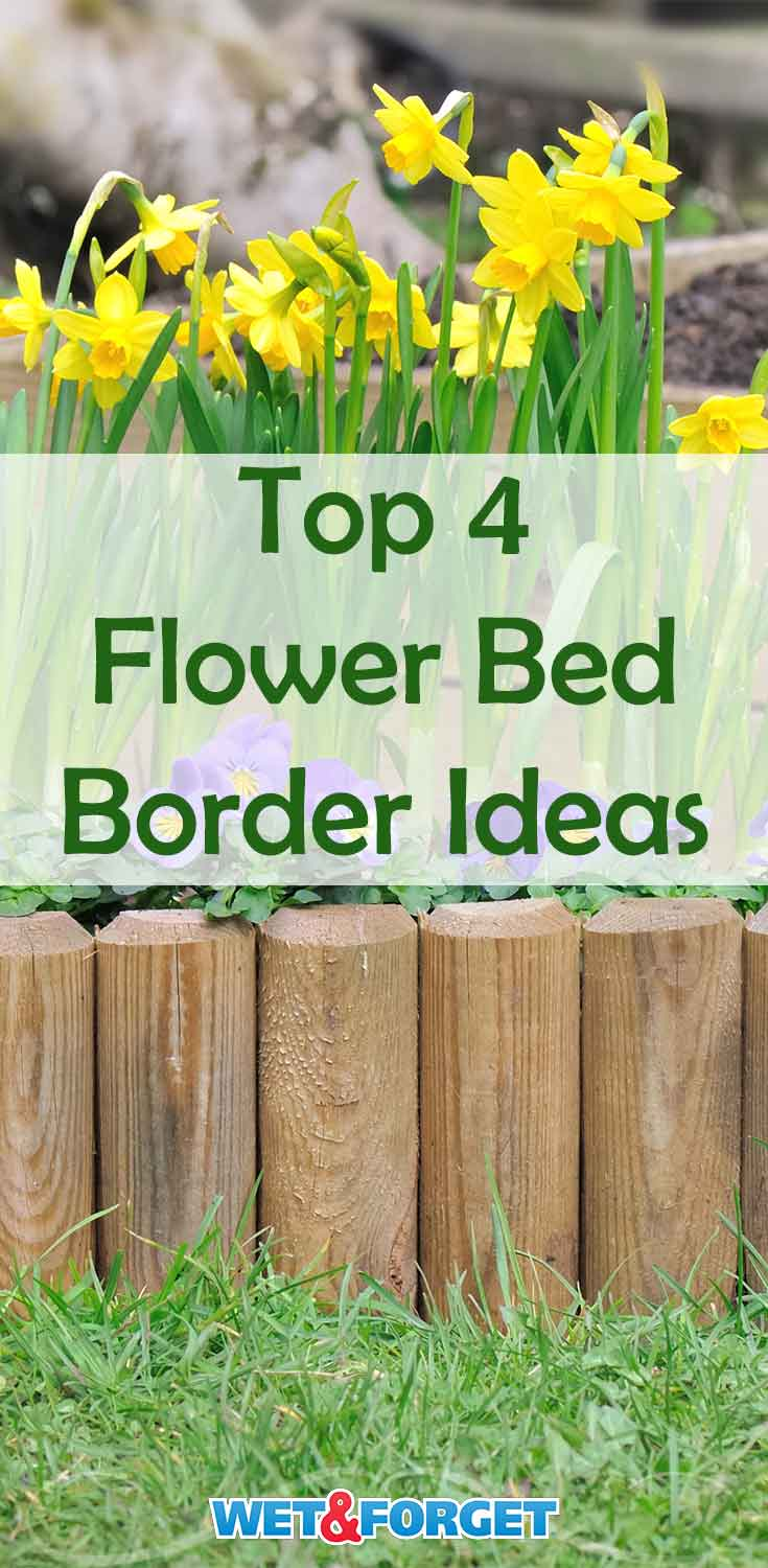 Not sure what type of border you want to add to your flower bed? Check out these 4 options, including a few DIY ideas!