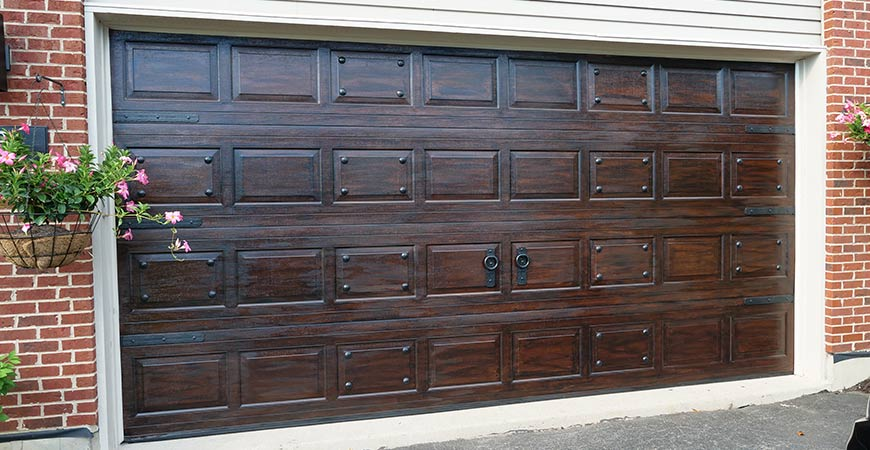 faux paint and gel stain for garage doors