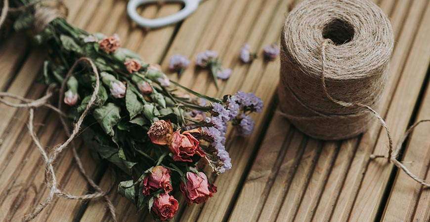 Dried flower bunches