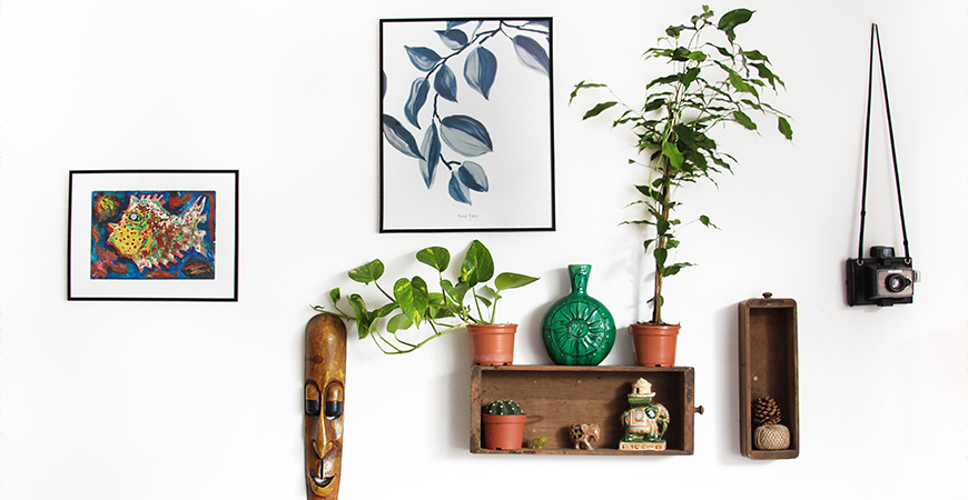 add plants to your gallery wall