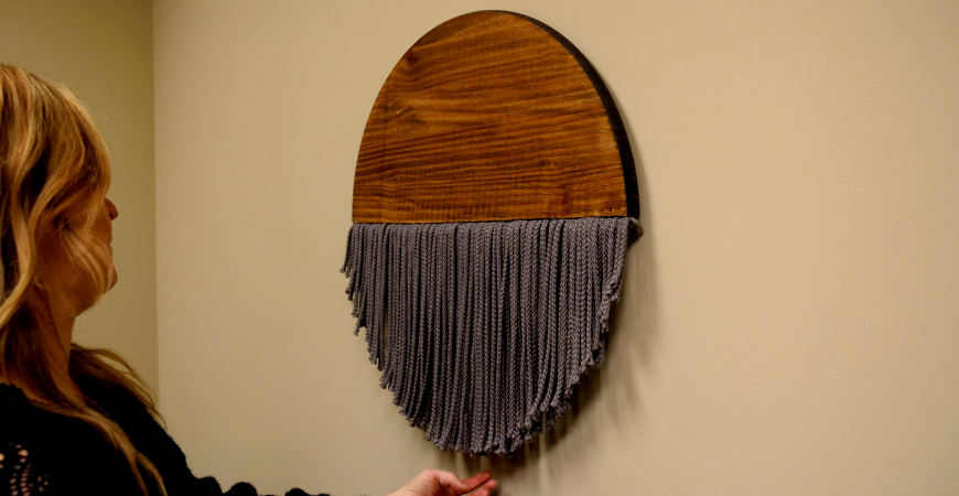 wooden macrame DIY