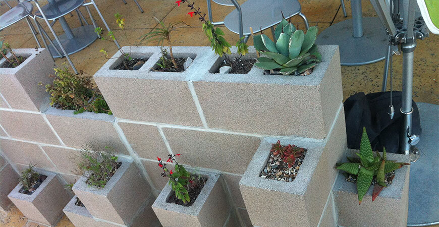 Summer Backyard DIY- Cinder Block Planter