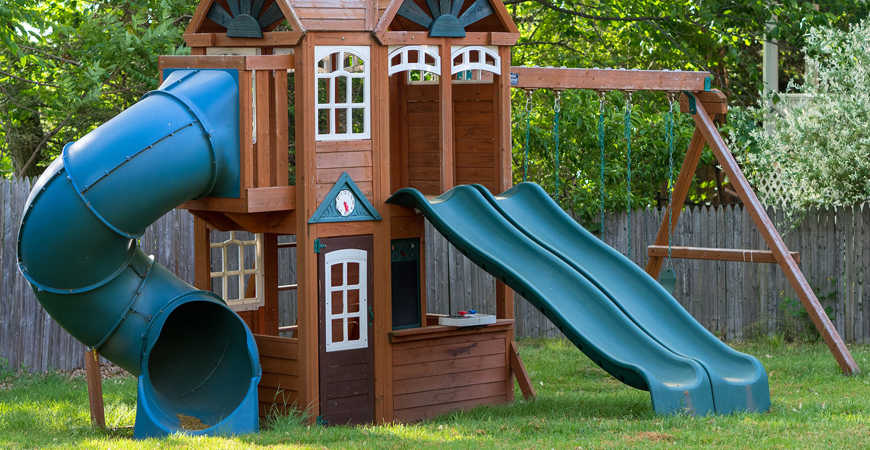 cleaning playground equipment with Wet & Forget